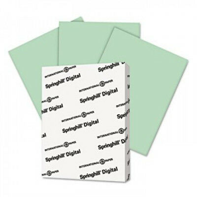 Digital Index Color Card Stock 90 8.5x11 Green 250 Sheetspack