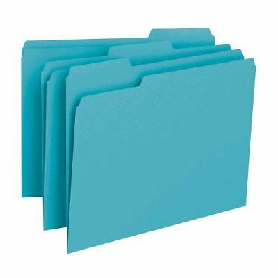 Smead 13143 Teal Colored File Folders - Letter - 8.50 X 11 - 0.75 Expansion -