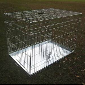 "BENGO 48"" Foldable Silver Metal Pet Dog Cage Chipping Norton Liverpool Area Preview"