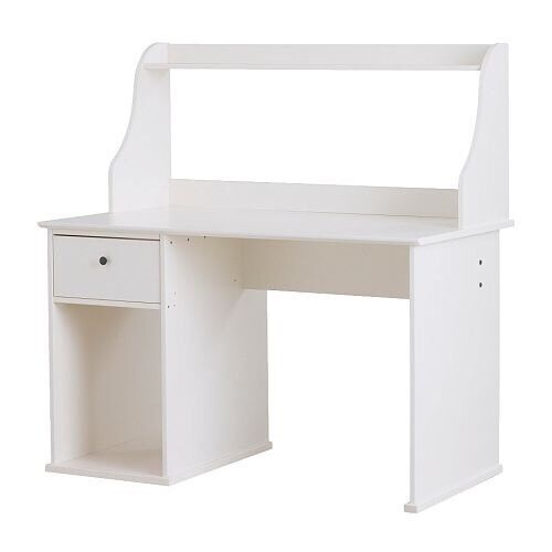 Ikea hemnes desk in white in hull east yorkshire gumtree for White desk with hutch ikea