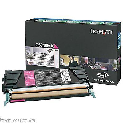 -  New ! GENUINE Lexmark  C534  Extra High Yield Toner Cartridge C5340MX