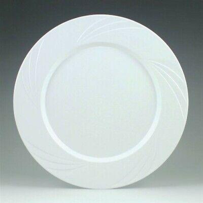 Newbury White Plastic Dinner Plates 10.75