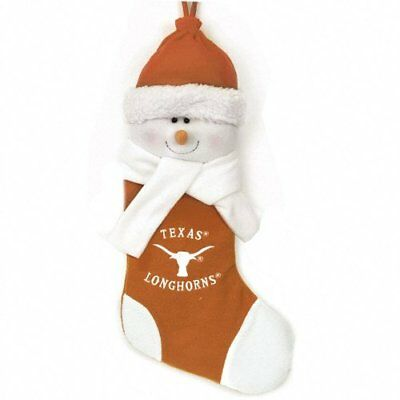 UNIVERSITY OF TEXAS LONGHORNS * PLUSH SNOWMAN * CHRISTMAS STOCKING * NEW IN PACK](Texas Snowman)