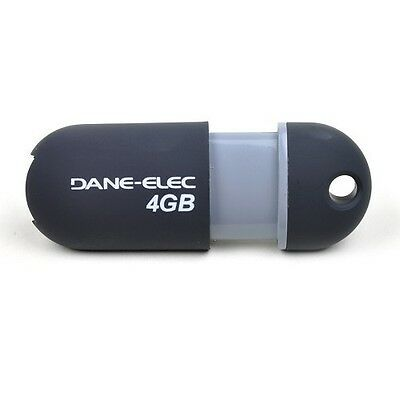 - Dane-Elec zMate Slide Out USB 2.0 4GB Flash Drive