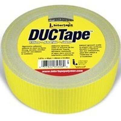New Intertape 2x 60yd Large Roll Yellow Heavy Duct Tape