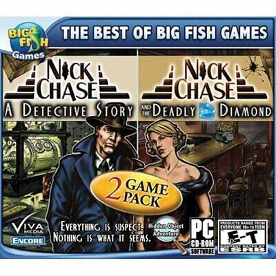 Computer Games - Nick Chase 2 Pack PC Games Windows 10 8 7 XP Computer hidden object seek & find