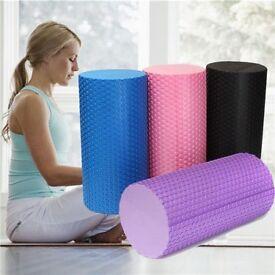 EVA Yoga Pilates Foam Roller GYM Exercise Texture Physio Massage