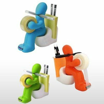 Colorful Butt Stationary Tapepen Memopaper Clip Holder Blue Green Or Orange