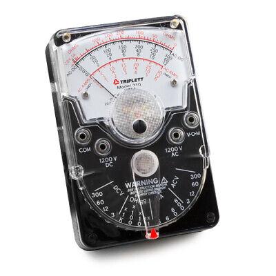 Triplett 3018 Model 310 Handheld Analog Volt-ohm Meter With 18 Ranges