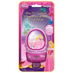 Disney-Sleeping-Beauty-Auto-On-Off-LED-Nightlight-3D-Effect-Energizer-NIP