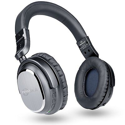 Naztech I9 Wireless Bluetooth Active Noise Cancelling Headphone W In Line Mic