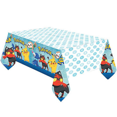 Pokemon Pikachu Sun & Moon Plastic Table Cover Birthday Party Supplies Cloth - Pokemon Table