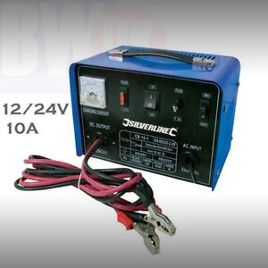 HEAVY DUTY PORTABLE CAR VAN TRUCK BATTERY CHARGER 10A 12V 24V FAST CHARGING S17