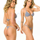 Bikini Black Striped Swimwear for Women