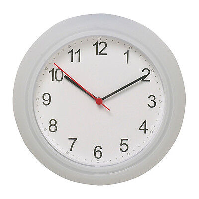 NEW IKEA RUSCH BATTERY OPERATED WHITE WALL CLOCK  New