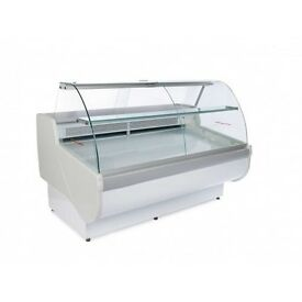 Igloo Tobi140 Multiplexable White Curved Glass Serveover Counter 765 Deep Fridge