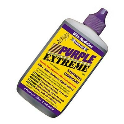 Bike Medicine Purple Extreme Synthetic Chain Lubricant 4oz Bike Bicycle
