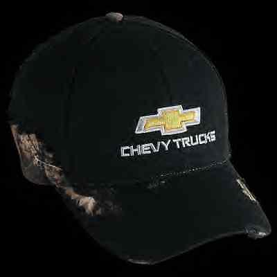 Chevrolet Bowtie Chevy Truck Frayed camo realtree Pickup Cap Baseball hat