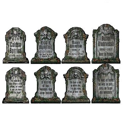 Packaged Tombstone Cutout Decorations](Tombstone Decoration)