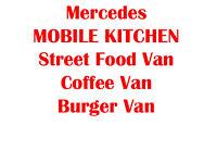 Mercedes Sprinter LWB Mobile Kitchen, Coffee Van, Burger Van, Street Food Van, Catering Truck £7500