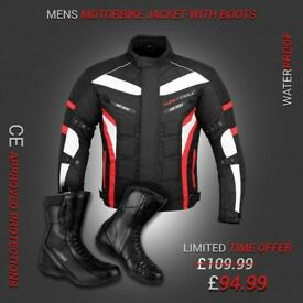 (Red)6 Packs design Jacket with High Ankle Touring Boots