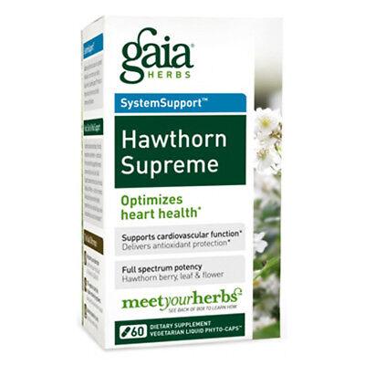 Gaia Herbs Hawthorn Supreme Liquid Phyto Capsules   60 Vegetarian Capsules