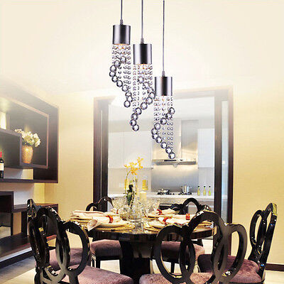 Luxury Modern Crystal Pendant Light LED Ceiling ...