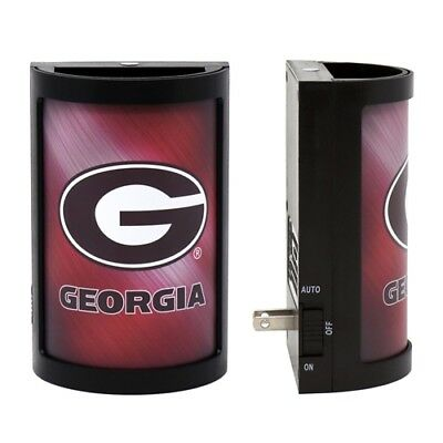 GEORGIA BULLDOGS PLUG-IN LED NIGHT LIGHT WITH LIGHT SENSOR NCAA 3 SETTINGS SPORT Georgia Bulldogs Red Light