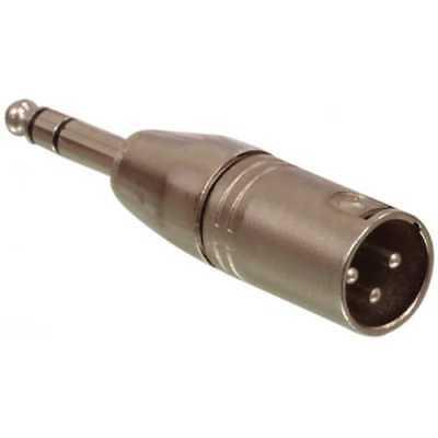 Adaptador XLR estereo 3 pin macho - jack 6.35 macho Gris -...