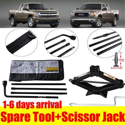 For 2001-2014 Chevrolet Silverado 2500 Spare Tire Lug Wrench Tool + Scissor Jack