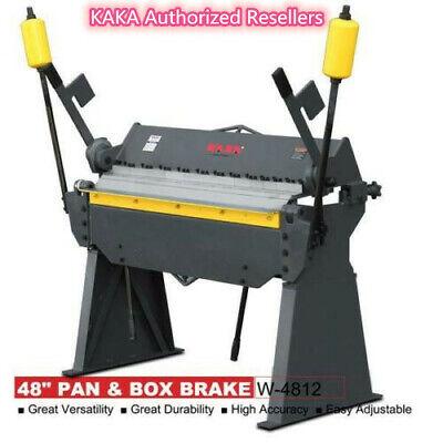 Kaka Industrial W-4812 48-inch Heavy Duty Sheet Metal Pan And Box Brake