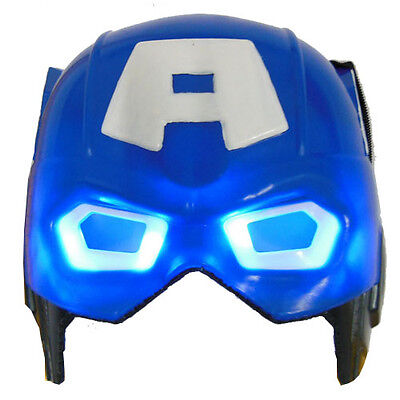 Light Up Captain America LED Mask for Party Halloween Cosplay Costume Props Toy - Captain America Halloween Costume For Girls