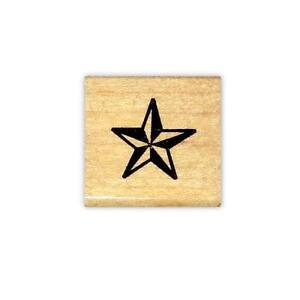 STAR mounted rubber stamp, western, military, Sweet Grass Stamps #1