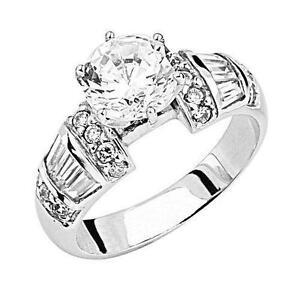 Mens Engagement Ring White Gold
