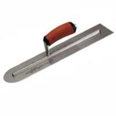 Marshalltown Mxs66red Rounded End Finishing Trowel 16x4