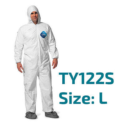 Dupont Tyvek Coverall Bunny Suite With Hood And Boots - Ty122s Size Large
