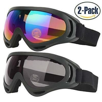 Ski Goggles, Pack of 2, Skate Glasses for Kids, Boys & Girls, Youth, Men & (Goggles For Boys)