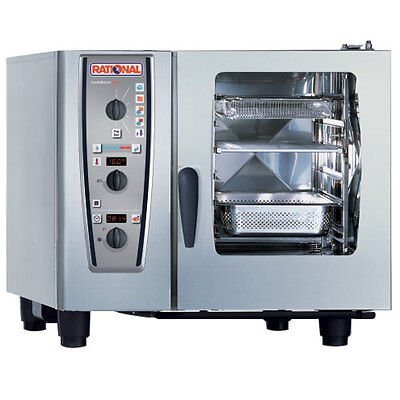 Rational Model 61 A619106.43.202 Electric Combi Oven With Six Half Size Sheet P
