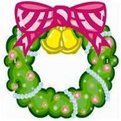 30 Custom Pink Ribbon Wreath Personalized Address Labels](pink ribbon address labels)