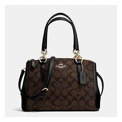 NWT Coach F58290 Mini Christie Carryall Handbag BROWN /BLACK MSRP $350