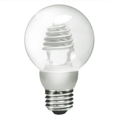 NEW Unique TCP Clear CFL Globe Light Bulb Lamp - Dimmable - 3W - G20 - 8G2003CL