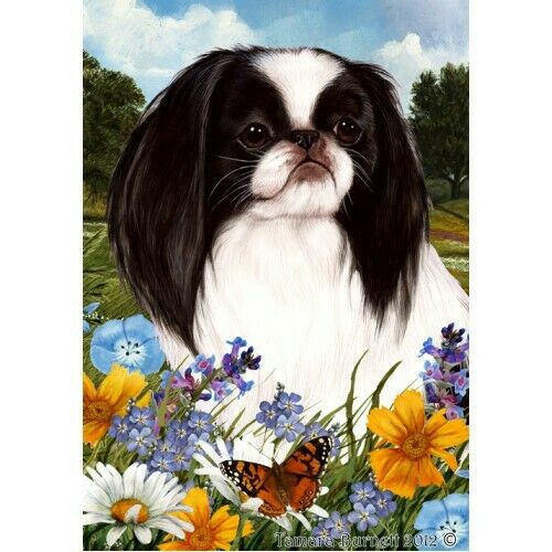 Summer House Flag - Japanese Chin 18133