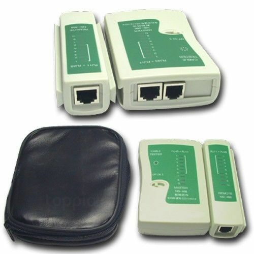 Cat5 CAT6 RJ11 RJ12 RJ45 Network Ethernet Lan Internet Cable Tester Test Tool US Computer Cable Testers