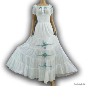 white peasant dress