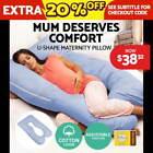 U-Shape Blue Feeding Pillows