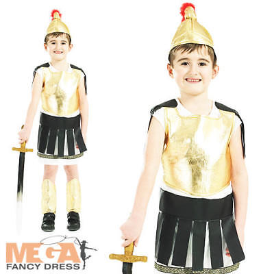 Roman Soldier Boys Fancy Dress Ancient Greek Gladiator Warrior Kid Child Costume
