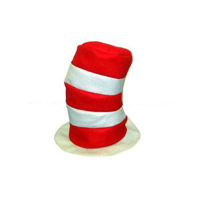 Dr Seuss Red Hat - Dr. Seuss Cat In The Hat Hats (12 Pack) Red & White Striped Costume Hats 1 Dozen