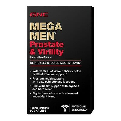 GNC Mega Men Prostate and Virility 90 Caplets