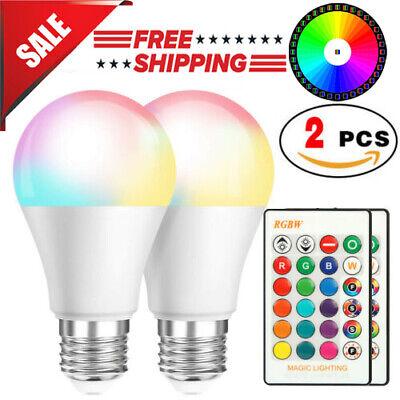 2 Pcs RGB RGBW LED Bulb Light 16 Color Changing E27 Lamp + IR Remote Controller