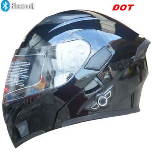 Motorcycle  Bluetooth XL Helmet Modular Dual Visor Flip Up